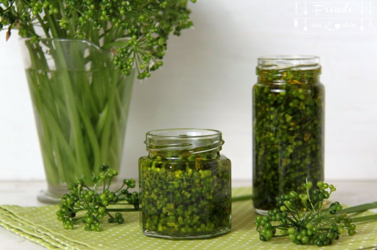 Bärlauchsamen Kapern und Bärlauch Samen in Öl - Freude am Kochen vegan