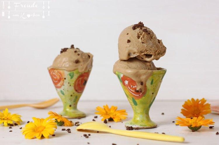 Schoko Kokos Eis vegan - Freude am Kochen