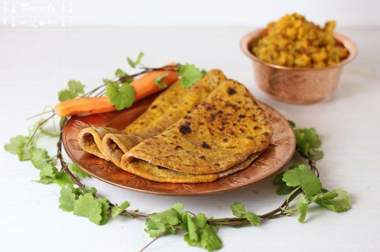 Indische Karotten Chapati vegan - Thermomix - Freude am Kochen