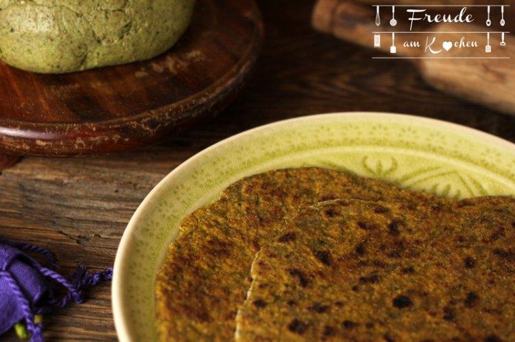 Karotten Grün Parathas vegan - Freude am Kochen