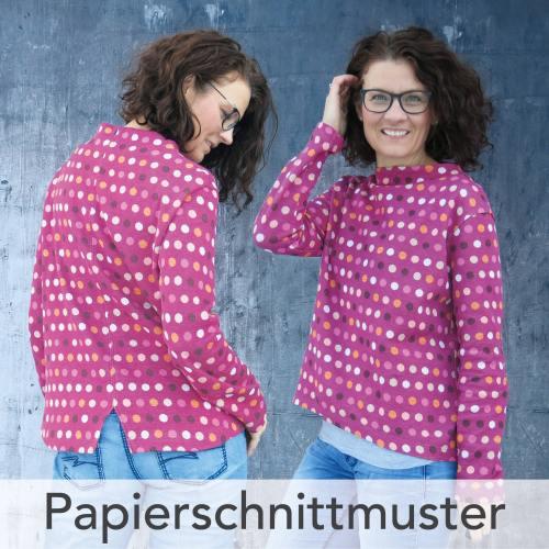 Papierschnittmuster Turtleneck-Shirt Paola