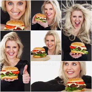 Model isst Hamburger
