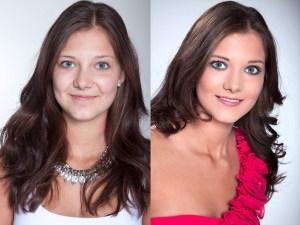 Junge hübsche Frau mit tollem Make Up