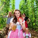 Junggesellenabschieds Feier, Viele Mädels machen Party im Hopfenfeld