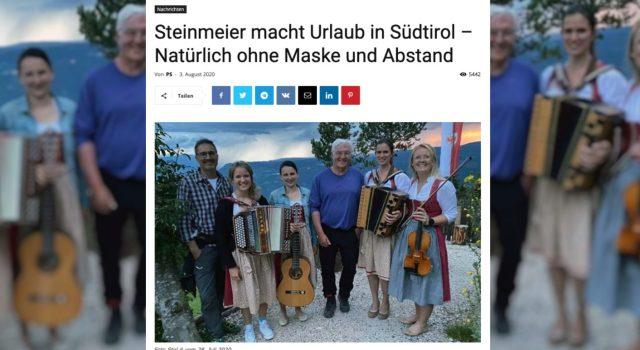 Unter anderem die Webseite Politikstube veröffentlichte das Foto von Frank-Walter Steinmeier in Südtirol  (Bild: CORRECTIV)