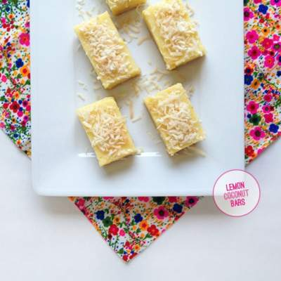 Lemon-Coconut Bars