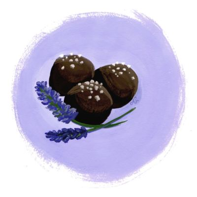 Chocolate Lavender Truffles
