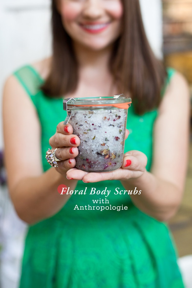Floral Body Scrubs with Anthropologie