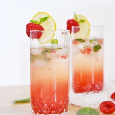 {Cocktail Friday} Raspberry Basil Limoncello