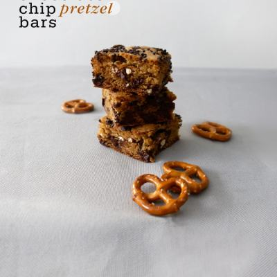 Chocolate Chip Pretzel Bars