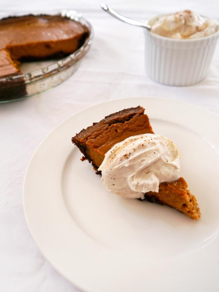 Gingersnap Pumpkin Pie Slice