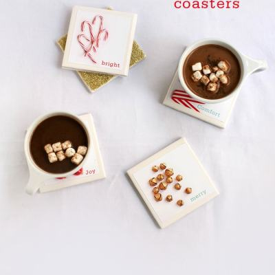 DIY Cozy Winter Coasters