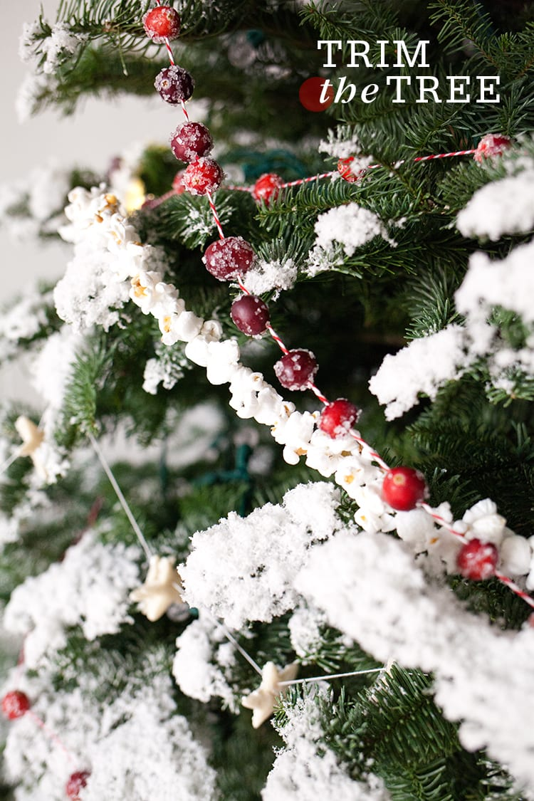 Christmas Tree Garland.Four Homemade Garlands For Your Christmas Tree