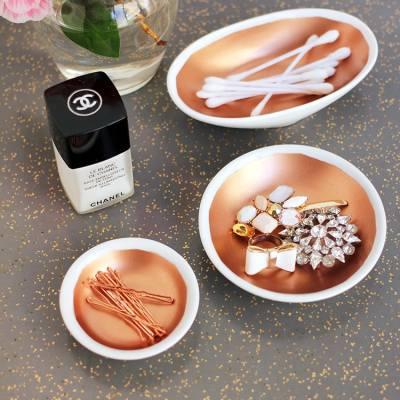 DIY Copper Vanity Bowls
