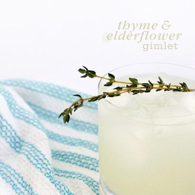 Thyme & Elderflower Gimlet
