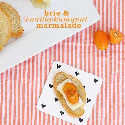 Brie with Vanilla Kumquat Marmalade