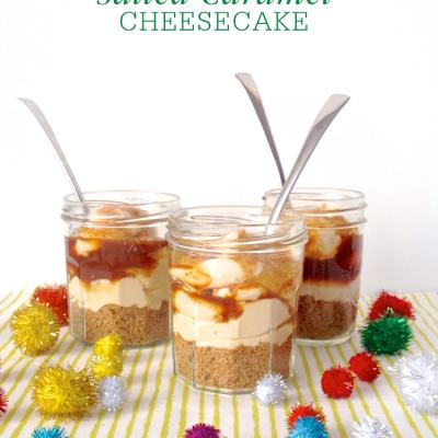 No-Bake Salted Caramel Cheesecakes