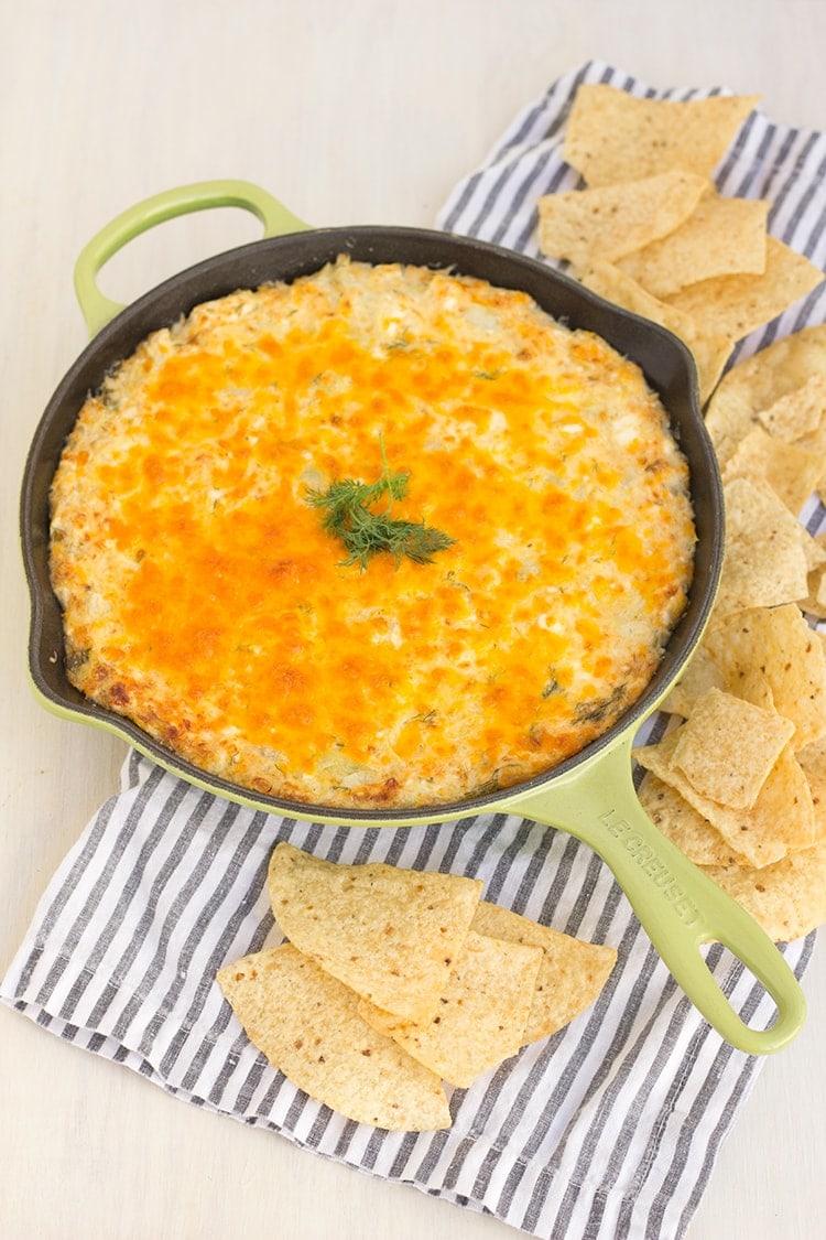 Cheesy Dill Artichoke Dip
