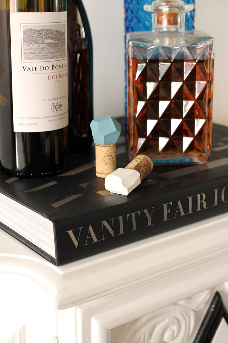 DIY Geometric Bottle Stoppers