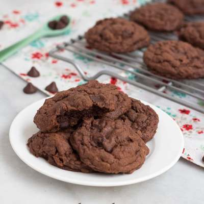 Double Chocolate Pudding Cookies