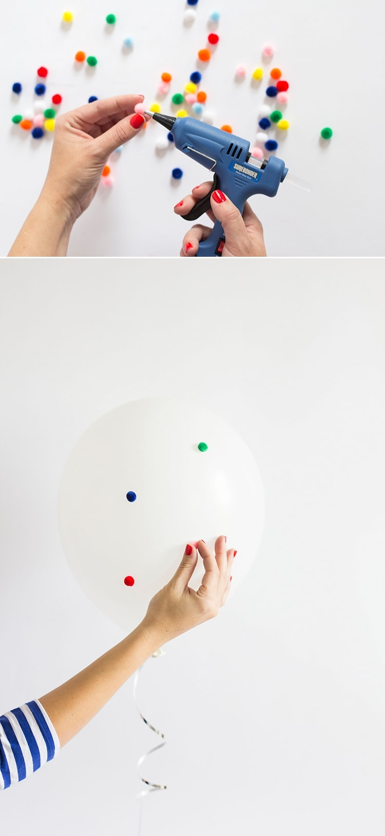 DIY Pom Pom Balloon Supplies