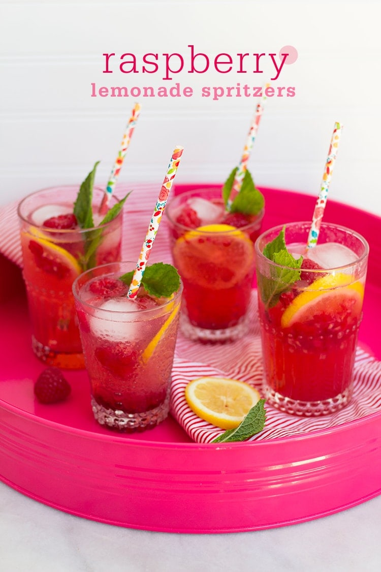 Raspberry Lemonade Spritzers + Exciting News