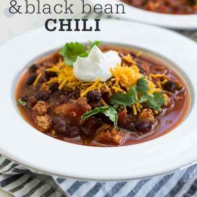 Turkey and Black Bean Weeknight Chili
