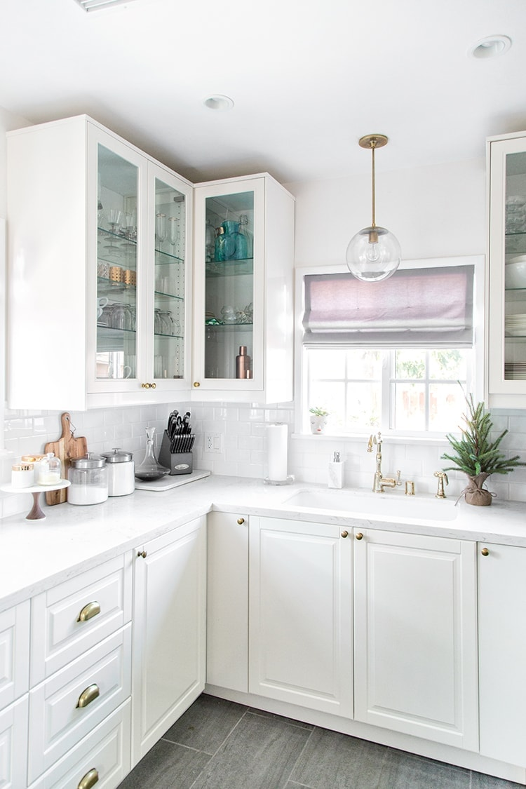 If You Remember I Shared A Look At Our Kitchen Before The Remodel Here And My  Design Inspiration. My Vision For The Small Space Was Simple: Clean And  Modern ...