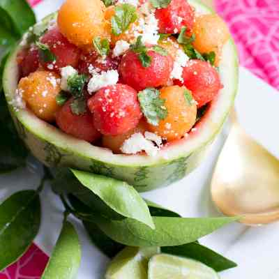 Watermelon Salad with Cilantro & Cotija