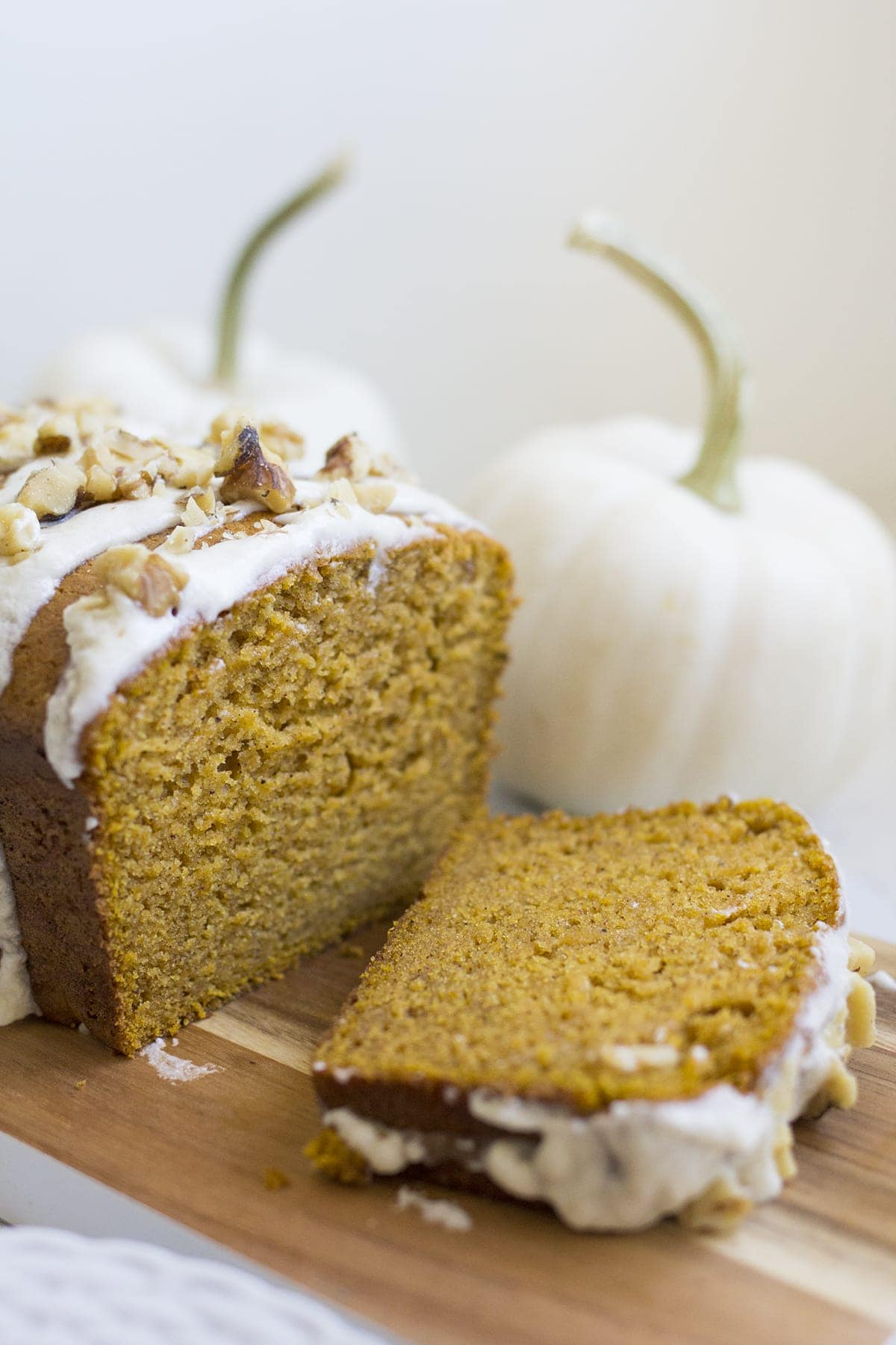 Pumpkin Bread with Maple Butter Icing