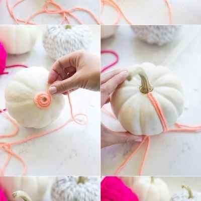 Yarn Covered Pumpkins
