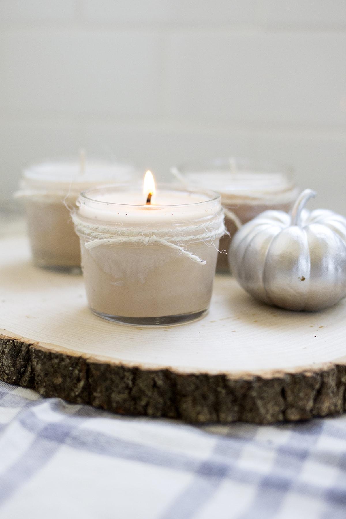 Homemade Pumpkin Spice Candles