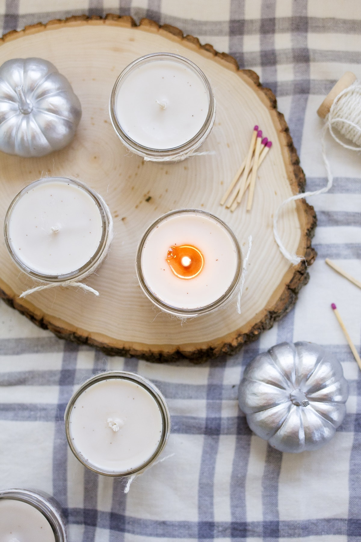 Homemade Pumpkin Spice Candles