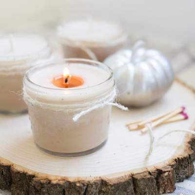 Homemade Soy Pumpkin Spice Candles