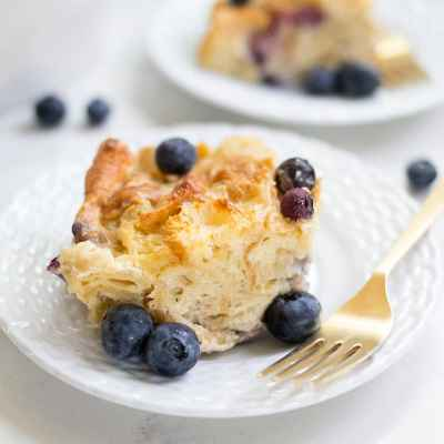 Blueberry Croissant Bread Pudding