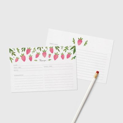 Printable Strawberry Recipe Cards