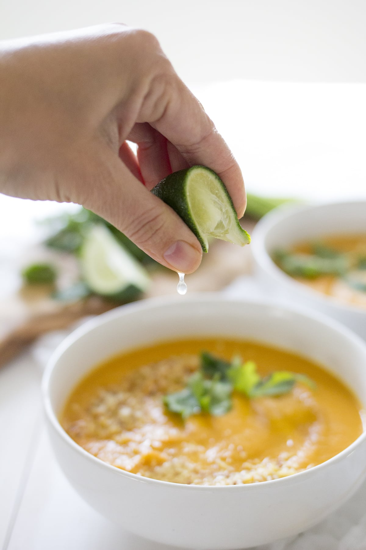 Curried Coconut Carrot Soup - Freutcake