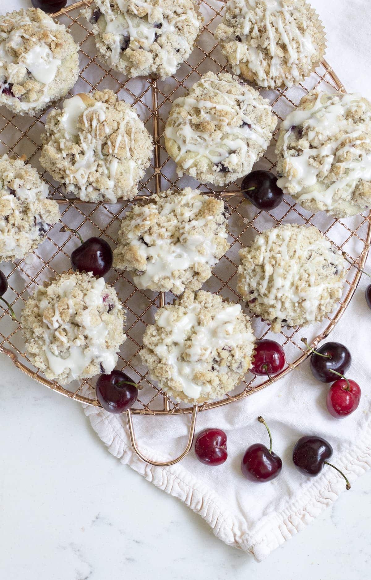 Cherry Crumb Muffins