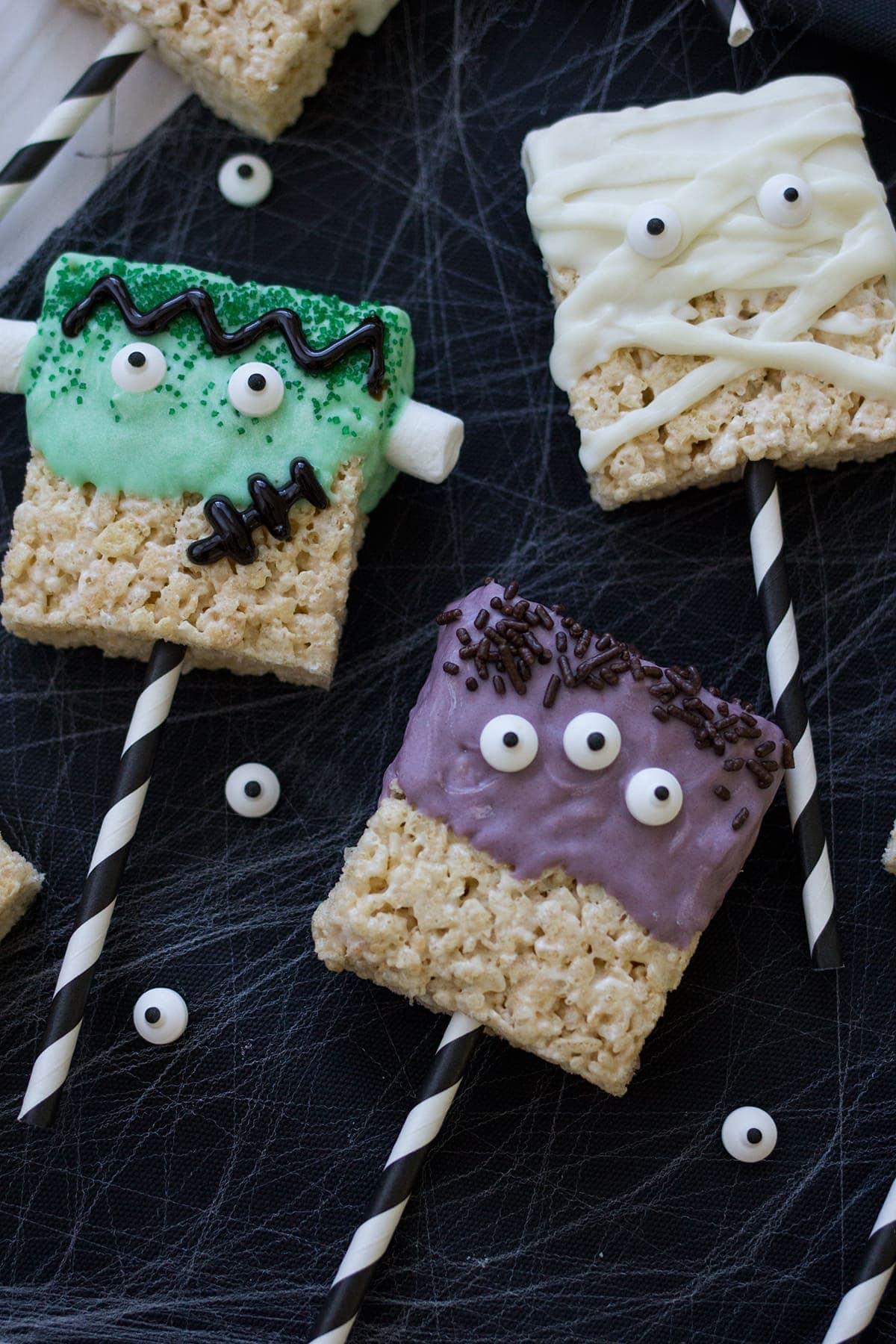 Halloween Monster Rice Krispies Treats