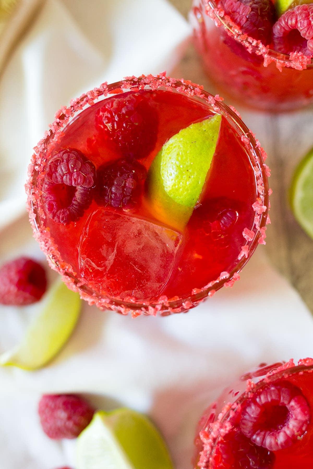 Valentine's Day Raspberry Pop Rock Margaritas