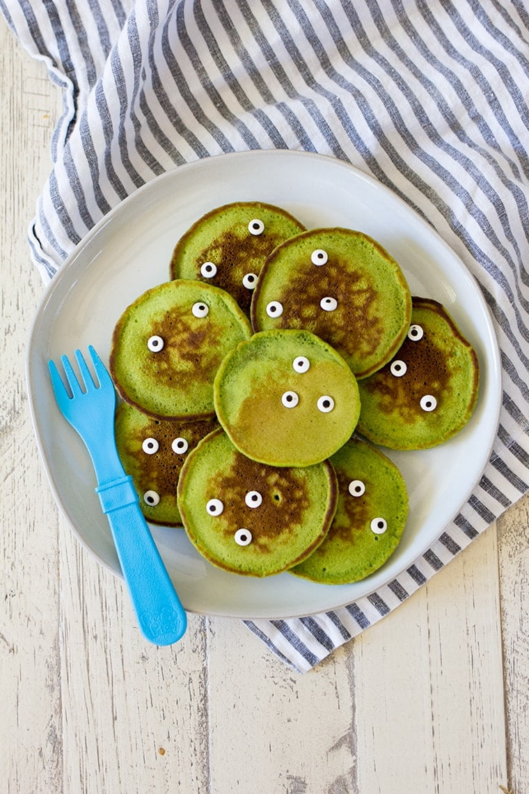 Healthy Halloween Monster Pancakes For Kids Freutcake