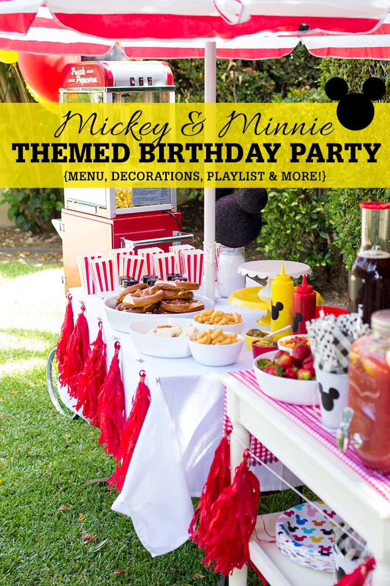 Mickey and Minnie Mouse Themed Third Birthday Party for the twins