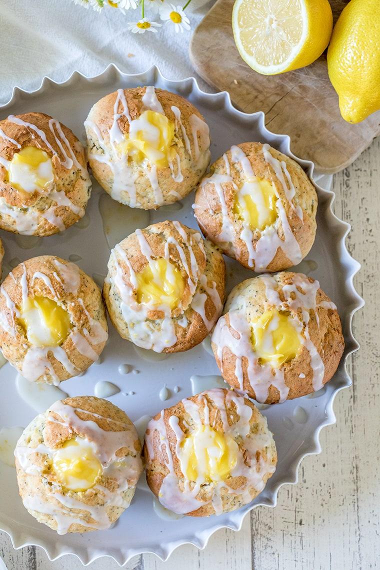 Lemon Poppyseed Muffins with Lemon Curd Filling