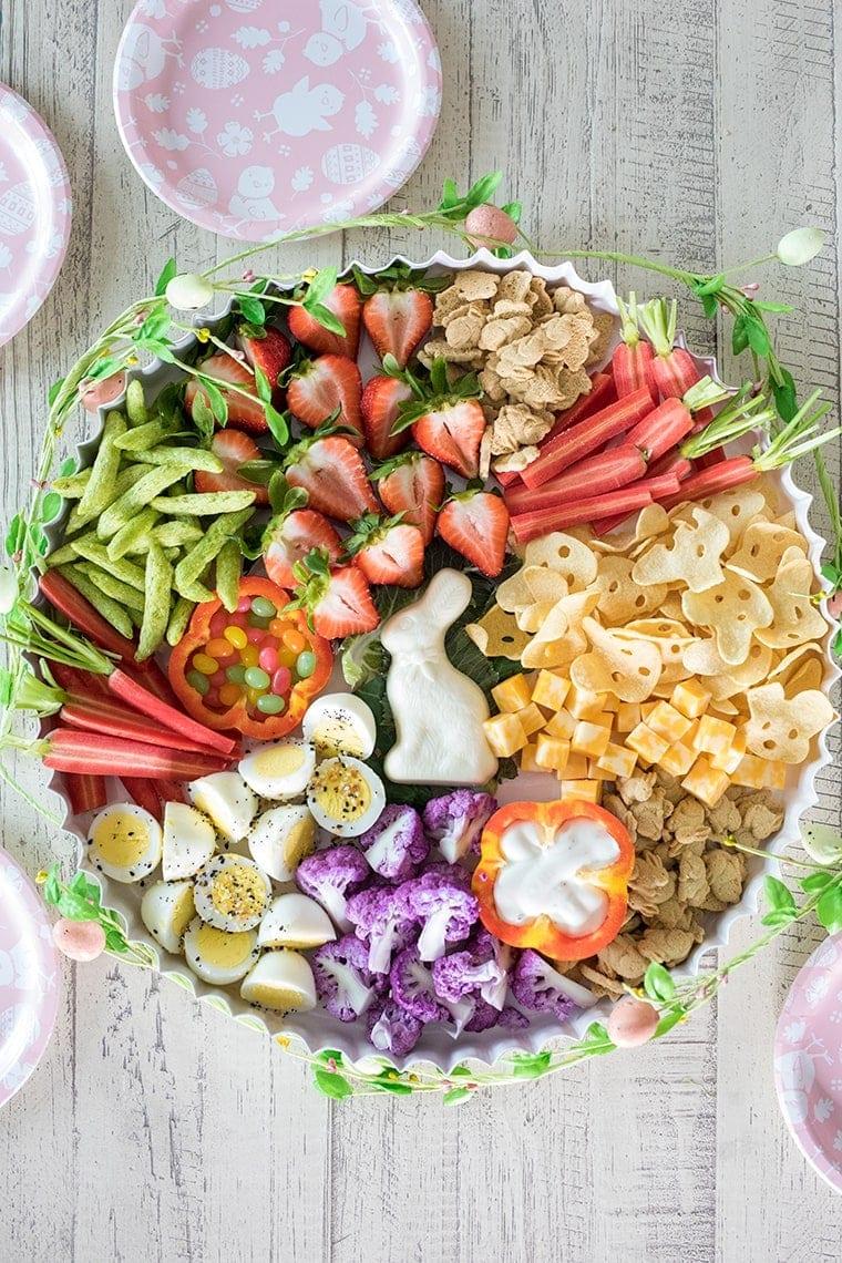 Healthy Easter Snack Board