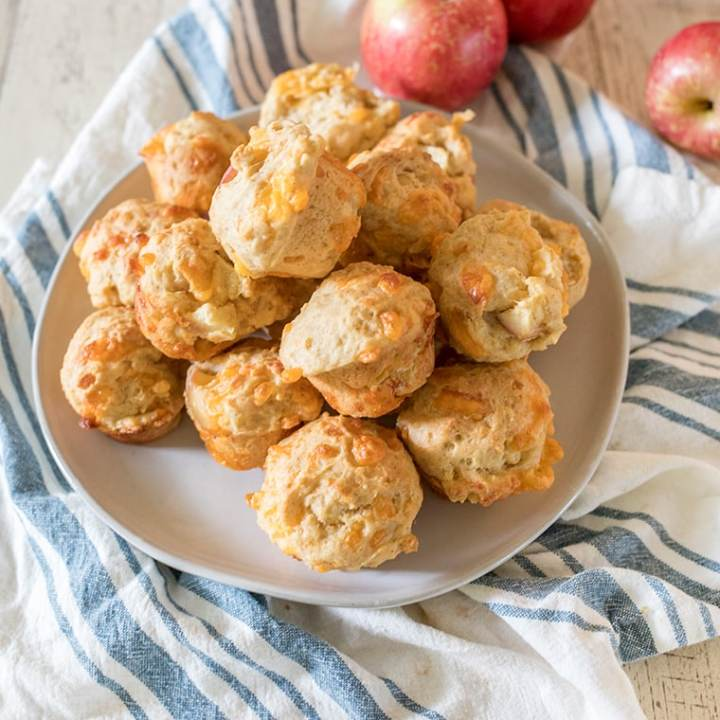 Mini Apple Cheddar Muffins