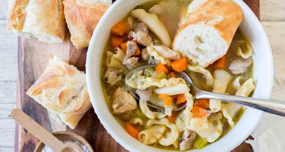 Big Batch Chunky Chicken Noodle Soup
