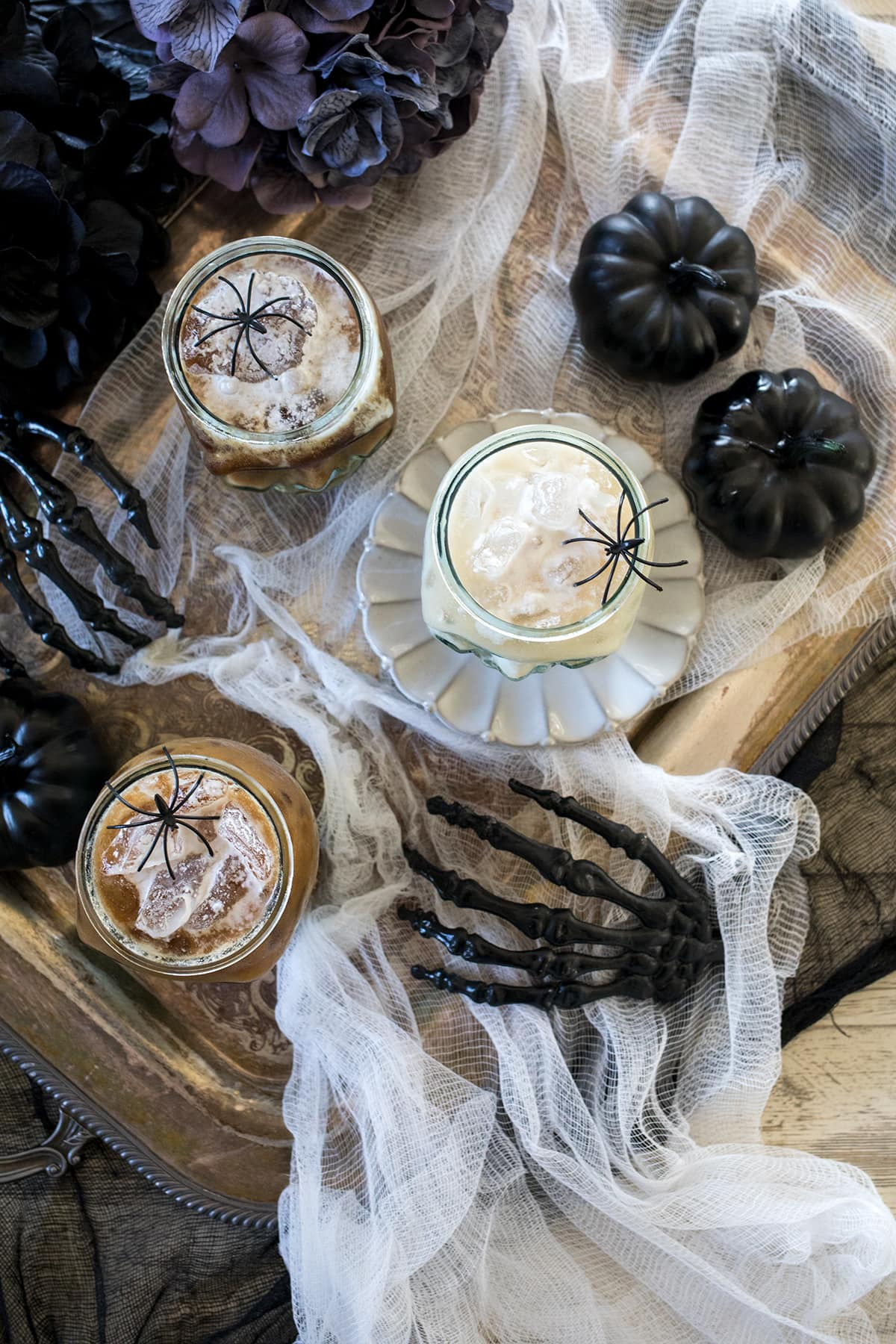 Halloween Coconut White Russian Cocktails