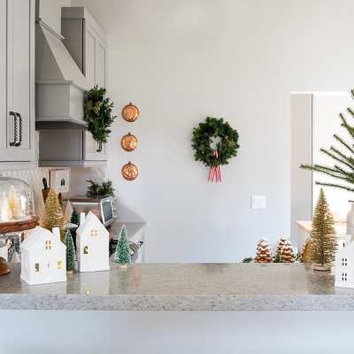 Our Pine Tree Inspired Christmas Kitchen Decor