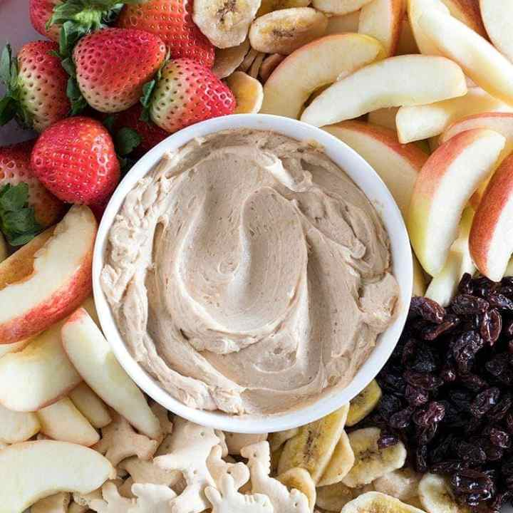 3-Ingredient Peanut Butter Apple Dip