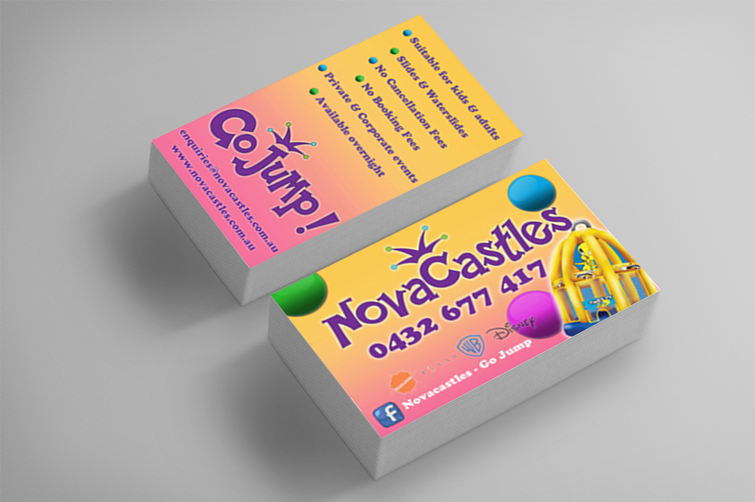 Novacastles Business Cards
